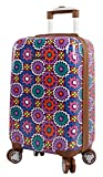 Lily Bloom Hardside 20' Carry On Design Pattern Spinner Luggage For Woman (20in, Desert Sierra)