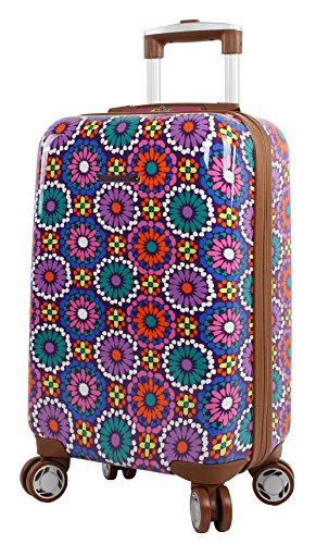 Lily Bloom Hardside 20' Carry On Design Pattern Spinner Luggage For Woman (20in, Furry Friends)