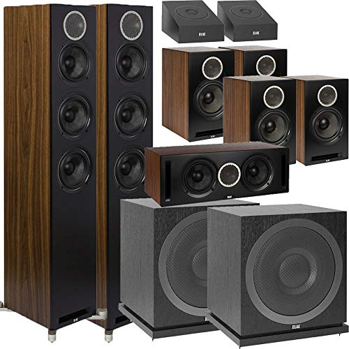 Lowest Prices! ELAC Debut Reference 9.2 Dolby Atmos Home Theater System Bundle with DFR52 - Pair + D...