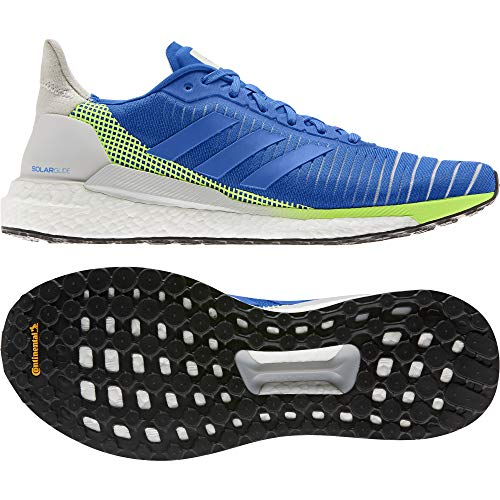 adidas Solar Glide 19 M, Zapatillas de Running para Hombre, Glory Blue/Glory Blue/Signal Green