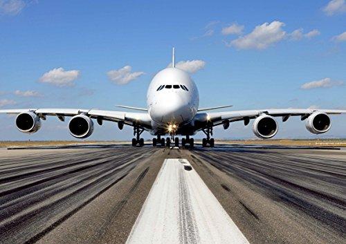 Poster Airbus A380 Avion Flugzeug Wand Kunst