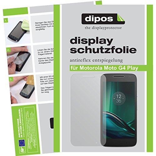 dipos I 2X Schutzfolie matt kompatibel mit Motorola Moto G4 Play Folie Bildschirmschutzfolie