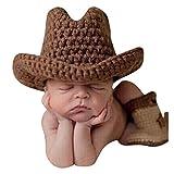 Highdas Súper linda hecha a mano del ganchillo del Knit recién nacido foto del bebé Atrezzo Outfit Costume Set
