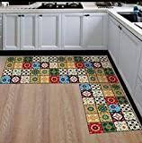 GS Traders™ Collections Kitchen Floor Mats Runner with Anti Skid Backing, Set of 2 (40 x 120 & 40 x 60 cm) (Design - 11)