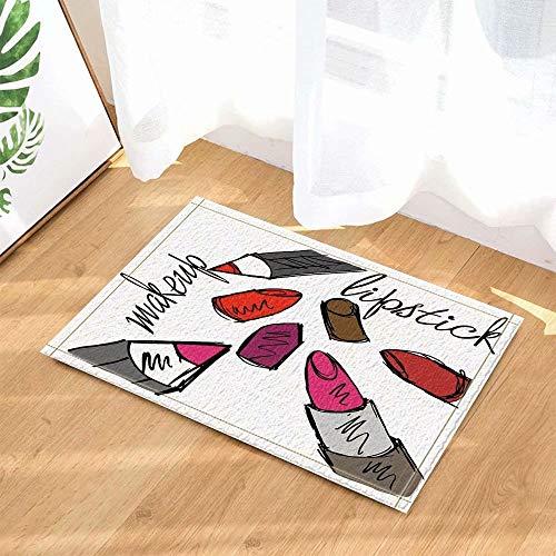 Schoonheid van de beeldverhaal de decoratieve lippenstift Kinderbadkamer tapijt toiletdeur mat woonkamer 40X60CM badkameraccessoires