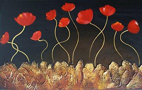 LegendArte L014 bloemen op de rok. Hoogwaardige druk op canvas, met LED-verlichting