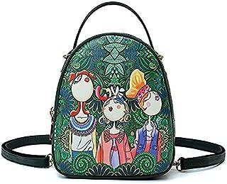 Fashion Single-Shoulder Bags Sen Series Leisure Fashion PU Leather Slant Shoulder Bag Handbag (Green) (Color : Green)