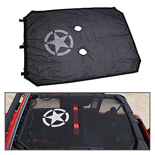 Wrangler JKU 2/4 puerta malla Bikini parasol cubierta superi