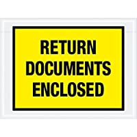 Aviditi PL448 Tape Logic Return Documents Enclosed Envelopes 7 1/2 x 5 1/2 Yellow (Pack of 1000) [並行輸入品]