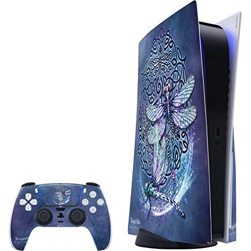 Skinit Decal Gaming Skin Compatible with PS5 Console and Controller - Tate and Co. Dragonfly Celtic Knot Design