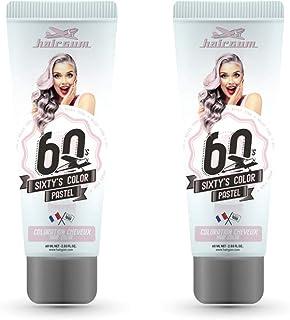 Hairgum Steel Sixty's Colour Cream, Semi-permanent Hair Dye, 2 x 60ml