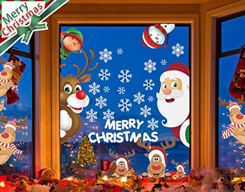 LYworld Pegatina Copo Nieve Alce Decoración Navidad