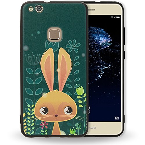 NALIA Funda Motivo Compatible con Huawei P10 Lite, Carcasa Protectora Silicona Ultra-Fina Estuche Gel Cobertura, Cubierta Goma Bumper Cover Telefono Movil Phone Case Delgado, Designs:Bunny