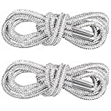 PAGOW 1Pairs Rhinestone Glitter Rope, Crystal Bling Bling Shiny Round Shoe Laces for Sneakers, Drawstring Cords Replacement for Sweatpants Shorts Crystal Hoodies (White)…