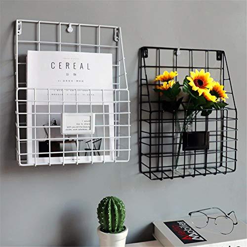 chifans Wandregal, Zeitschriftenhalter Wandhalterung Zeitungshalter Wandkorb Eisenregal für Bücher Büro Wohnzimmer Küche für das Badezimmer, die Küche oder das Büro
