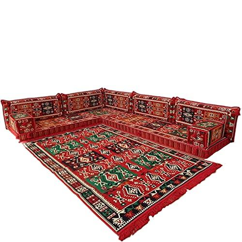 Cojines de suelo para sofá esquinero majlis asientos bohemios muebles bancos / SHI_C244