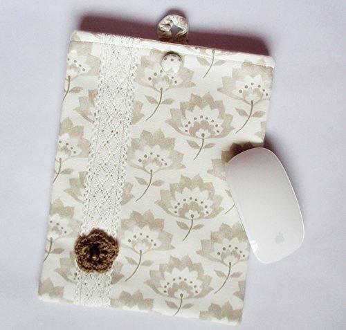 Handmade ipad 10.5 case, ipad air cover, ipad pro cover, macbook sleeve, ipad mini case, tablet case, beige, cream, brown, Clarke & Clarke