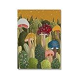 TEDDRA Pintura de Lienzo Colorida Seta de Cristal botánica Arte Abstracto Moderno póster impresión Imagen Arte de Pared decoración de Sala de Estar sin Marco