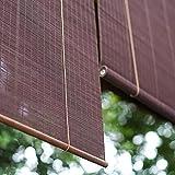 Zhaomi Cortina de Bambú,Estor Enrollable de Bambú Natural,Toldo Vertical,Persianas de Madera,Pantalla de Privacidad,para Uso en Interiores y Exteriores (130 * 280cm/51 * 110in)