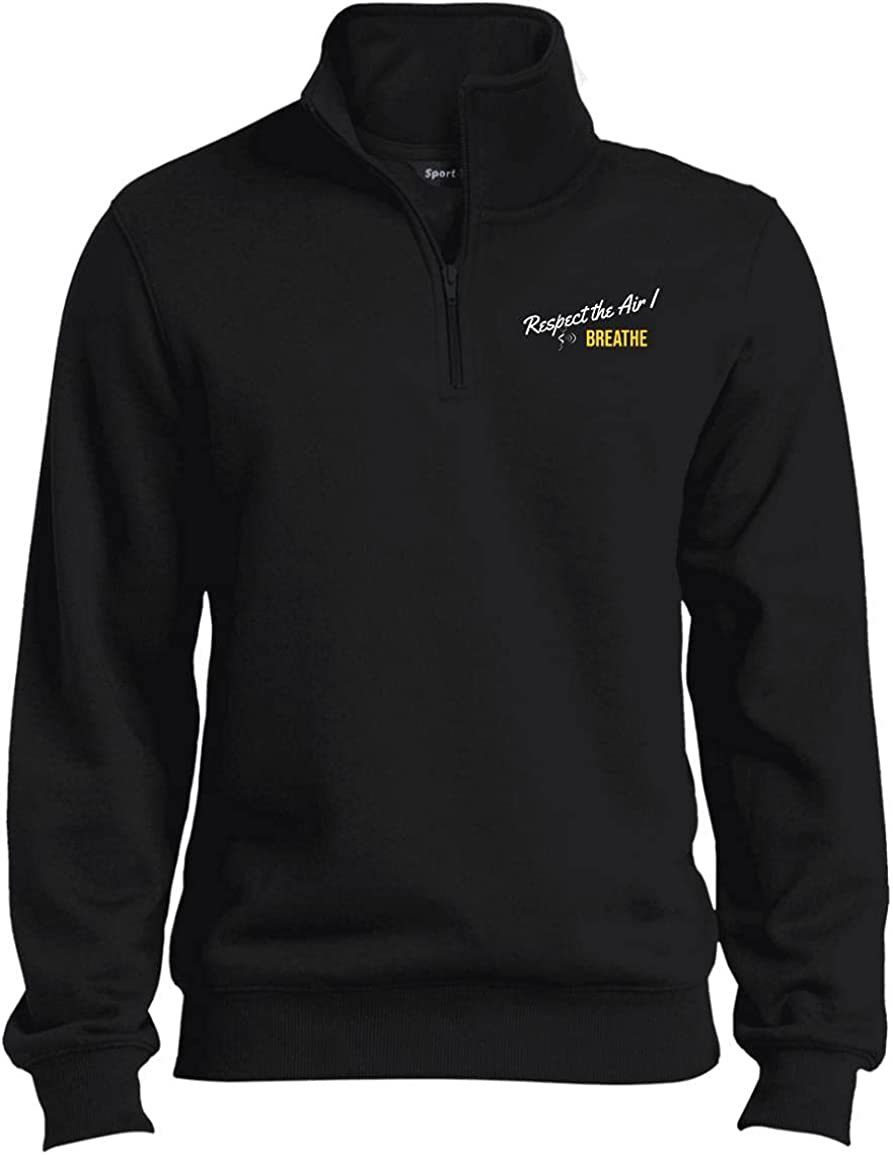 GermSanity Men's 1/4th Zip Sweatshirt - Black Tall