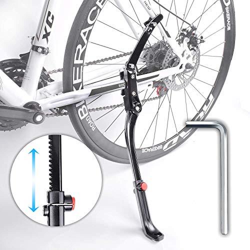 Sportout Verstellbarer Fahrradständer, Zwei-Punkt-Montage Fahrradständer, Universal-Aluminium-Legierung Seitenständer, perfekt für Mountainbike, Falt Rad, Erwachsenenrad, Jugendrad