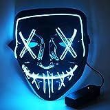 CENOVE LED Rave Mask Leuchten, 7 Farben und 5 Blitzmodi Halloween LED Leuchten Maske für Erwachsene...