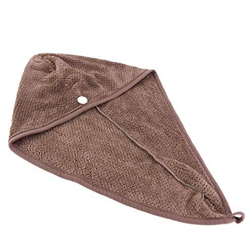GUOYANGPAI Mikrofaser-Haartuch Turban Wrap, Soft-Duschkopf-Handtuch, Schnelltrockner-Hut Badekappe, Kaffee