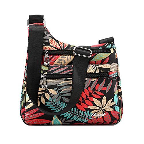 Outreo Borsello Donna Borse a Spalla Leggero Borsa Tracolla Impermeabile Borse da Moda Sacchetto Ragazze Borsetta Casuale Sport Bag (Multicolore 2)