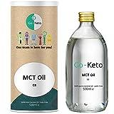 Go-Keto MCT Aceite C8, 500 ml | Aceite MCT prémium, 100% de aceite de coco sin aceite de palma | Perfecto para la dieta ceto | La crema de café ceto ideal para un Bulletproof Coffee o un batido ceto