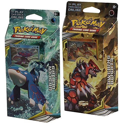 Pokemon Sun and Moon Cosmic Eclipse Both Theme Decks Groudon & KYOGRE
