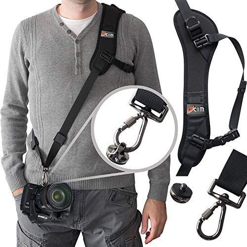 Ocim Camera Strap,Camera Sling Strap with Safety Tether, Adjustable and Comfortable Neck/Shoulder Belt for DSLR/SLR Camera (Nikon, Canon, Sony) Universal Belt Women/Men