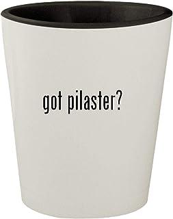 got pilaster? - White Outer & Black Inner Ceramic 1.5oz Shot Glass