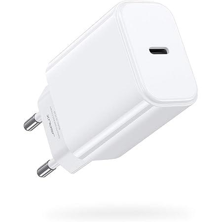 JSAUX 20W USB C Ladegerät, USB C Netzteil PD3.0 Schnellladegerät, USB C PD Fast Charger Ladestecker Power Delivery für iPhone 12,12 Pro Max,12 Mini,11,11 Pro,iPad Pro 2020,Galaxy,Pixel usw Weiß