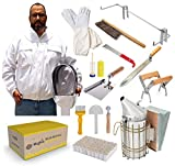 REGIVA Beekeeping Supplies 15 pcs Beekeeping Tools Kit - Deluxe...