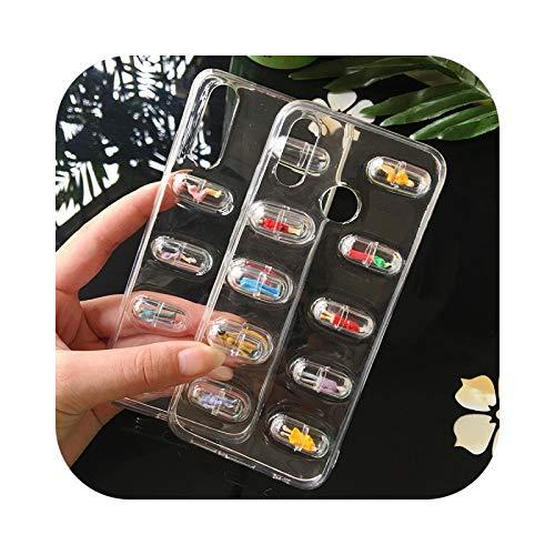 Friendshiy Schutzhülle für iPhone 11, Person, Pillen, niedliche 3D-Kapsel, für iPhone 11 Pro XS XR XS Max X 8 7 6 6S Plus, TPU, weich, transparent
