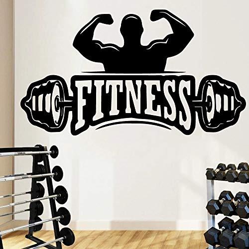 Etiqueta engomada de la pared de los hombres del vinilo vibrante del gimnasio