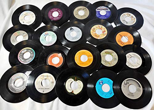 Genuine Record Decorations by VILLAGE MUSIC World| Set of 25| 45 RPM, 7' Vinyl Records| Party Decorations, Arts and Crafts Supplies/Vintage/Retro/Home Décor