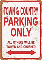 TOWN&COUNTRY Parking Only ティンサイン ポスター ン サイン プレート ブリキ看板 ホーム バーために