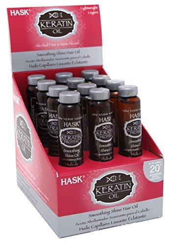 Hask Vials Keratin Protein Smoothing Shine Oil (12 Pieces) by Hask Placenta
