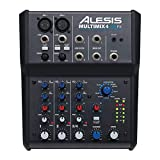 Alesis MultiMix 4 USB FX | 4 Channel Compact Studio Mixer with Built In Effects & USB Audio...