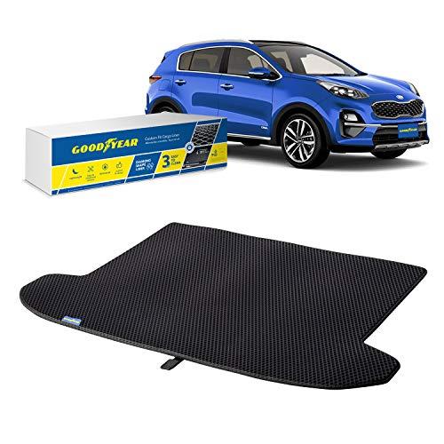 Goodyear Alfombrilla protectora para maletero de Kia Sportage 17 – 20 (tapa de carga en posición más alta), alfombras de coche, accesorios de coche, alfombrillas y alfombras shwartz