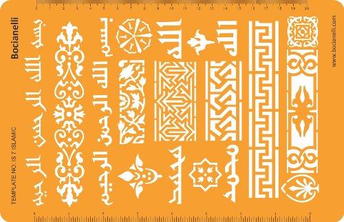 Bocianelli Schmuckhandwerk Vorlage/Schablone, orientalische, asiatische, islamische und indische Ornamente und Muster