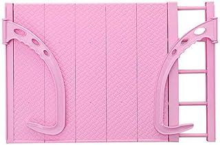 Estante Retráctil De Secado De Ventana/Estante De Zapato De Secado Al Aire Libre Balcón Radiador Colgador De Ropa Plegable Almacenamiento De Acero Inoxidable/Toalla/Calcetines,Pink-38-55cm