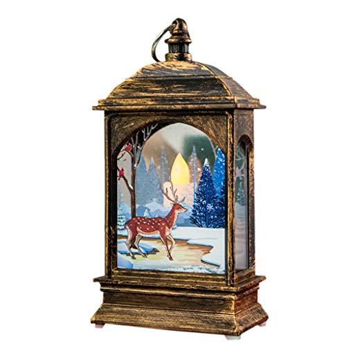 FossenHyC - LED Vela Adornos Navidad Originales Rusticos Vintage Decoracion Mesa Interiores, Navidad Decoracion Clearance Lights de Alce,Santa claus, Muñeco de nieve