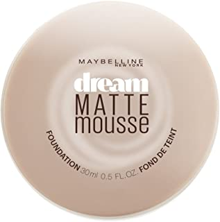 Maybelline New York Dream Matte Mousse Foundation, Natural Beige, 0.5 Fl Oz (1 Count)