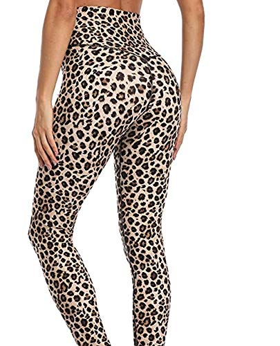 Mdsfe dames Yoga High Leggings Ultra High Elasticity Leggings Maat XXS-XL X-Large Leopard A8719