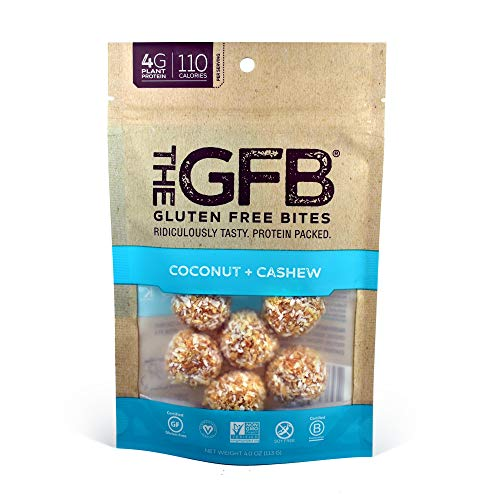 The GFB Protein Bites, Coconut Cashew Crunch, 4 Ounce (Pack of 6), Gluten Free, Non GMO (Packaging May Vary)