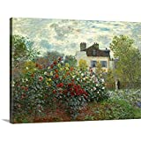 The Artist's Garden in Argenteuil, by Canvas Wall Art Print, Floral Artwork