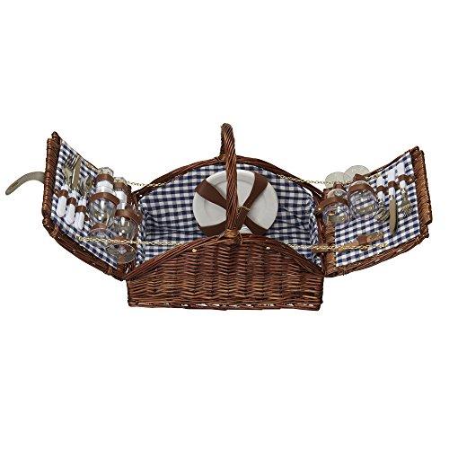 Haushalt Essentials ml-2200Dorothy Markt Picknick Korb mit festen Griff,...