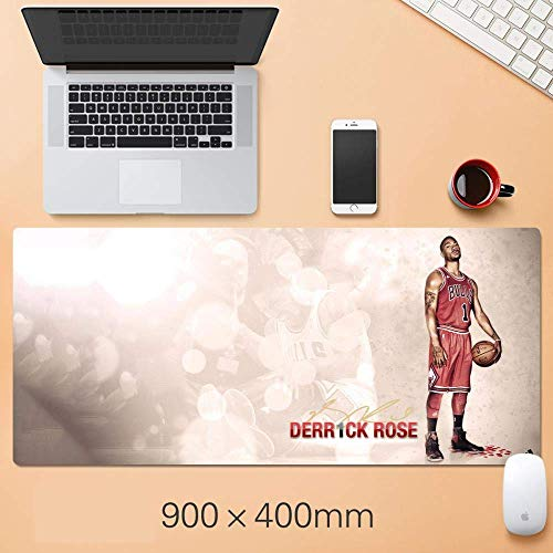 Tappetino mouse gaming tappetino mouse xxl Basket NBA Mousepad oversize Warriors Lakers Curry Corby Jordan Irving James Durant Mat, R (Color : H)